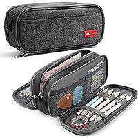 Trousse à Crayons Grande Capacité Pochette Porte-Stylo 3 Compartiments Scolaires Papeterie Sac de Maquillage pour…