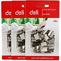 deli W8592 Paper Clipper, (Silver), Pack of 3