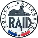 Police Nationale Raid Français SWAT Emblem PVC Airsoft Cosplay Patch (Blanc)