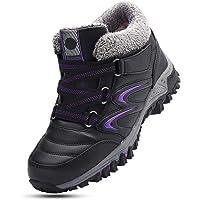 gracosy Chaussures de Sport Randonnée Hiver Femmes, Boots de Neige Fourrées en Cuir PU Bottes Baskets Fourrure Bottines…