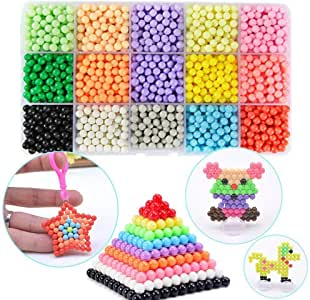 Funbeads 24 Couleurs 3000 Perles De Recharge Pour Aqua Pearl Et Beados Art Craft