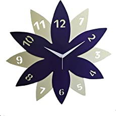 ArtNsoul Latest Beautiful Designer Leaf Wall Clocks for Home/Bedroom/Living Room,Gifts,Descent for Home and Office