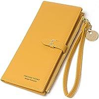Portafoglio donna, JOSEKO portafoglio donna lungo portafoglio in pelle PU, portafoglio porta carte di grande capacità 12…