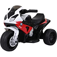 HOMCOM Compatible for Electric Kids Ride on Motorcycle w/ Headlights Music Battery Powered Play Bike 6V Red BMW S1000RR