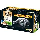 Sheba Adult Katzen-/Nassfutter Multipack, für erwachsene Katzen Sauce Lover in Sauce, 32 Schalen (32 x 85 g)