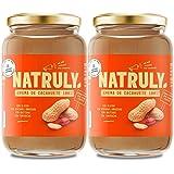 NATRULY Pindakaas - Suikervrij, Glutenvrij, Vrij Van Palmolie - 100% Natuurlijk, 100% Vegan -Pakket 2x500g