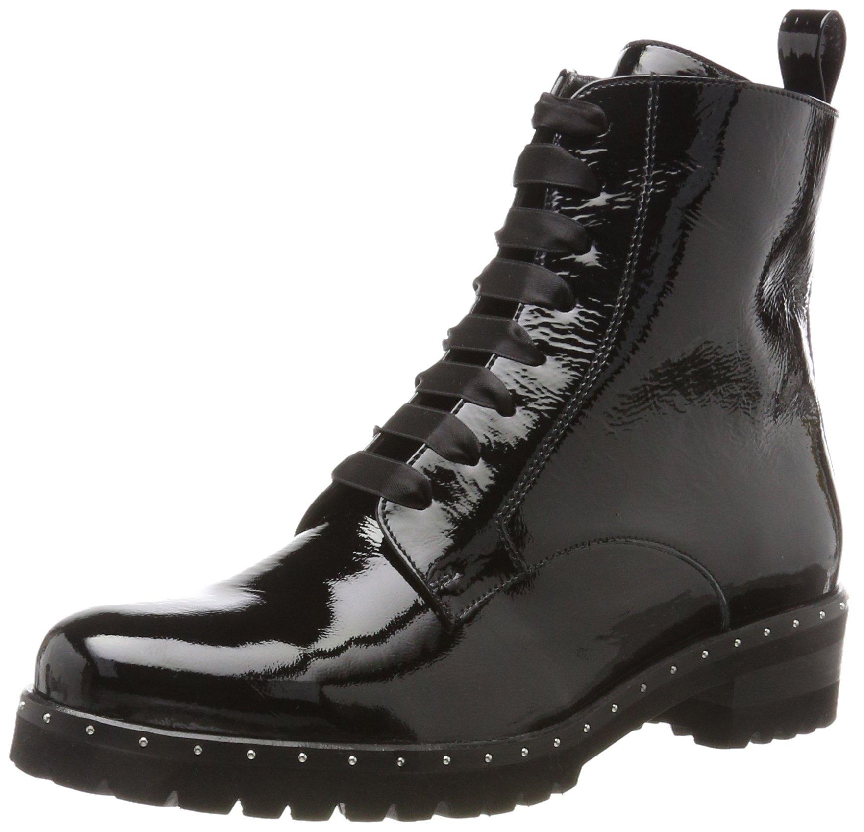 Peter Kaiser Lesata Damen Leder Boots, Schwarz