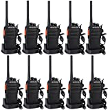 Retevis RT24 Walkie Talkie Profesionale, Walky Talky Recargable PMR446 sin Licencia 16 Canales CTCSS DCS, con Auriculars Carg