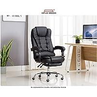 Kepler Brooks Italia High Back Reclining Leatherette Office/Desk Chair with Leg Rest (Black)