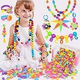 BLAZOR Enfants Bricolage Filles Perles Set, pour Fabrication de Bijoux Collier, Bracelets, Bande de Cheveux, Bagues, DIY Lois