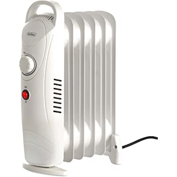 5a3410c3e5a VonHaus Mini Oil Filled Radiator 800W 6 Fin – Portable Electric Small Heater  – Adjustable Temperature   Tip Over Safety Switch – White