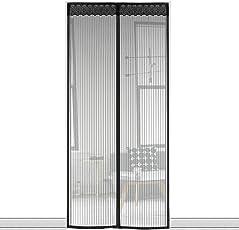 Fliegengitter Tür Insektenschutz Magnet Vorhang Fliegenvorhang 100 x 210 cm für den Balkon, Wohnzimmer, Schiebetür Terrassentür (max.Türmaße 96x208cm)