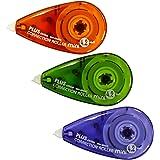 PLUS Japan, Correctieroller Mini, verpakking van 3, kleurenmix, 6 m x 4,2 mm