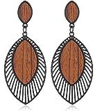 Statement Earrings for Women wood Boho Fashion