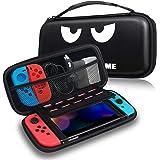 Fintie Tasche für Nintendo Switch - Tragetasche Aufbewahrungstasche Transporttasche mit 10 Spielkartenhaltern und Haltegurt für die Nintendo Switch Konsole Joy-Con & Accessoires, Don't Touch