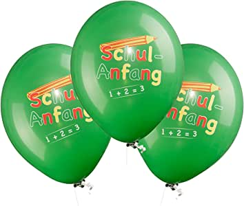 /Ø ca 30 cm Luftballons Schulanfang - 2 x 8 Stk. Folat 61325