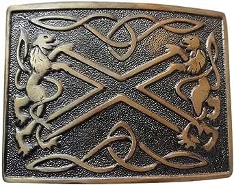 Kilt Belt Buckle Scottish Saltire & Lion Band Premium Quality