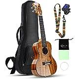 Hricane Concert ukelele van Koa vaste acacia Professional glad glanzende ukelelen Hawaii gitaar concert muziekinstrumenten 23