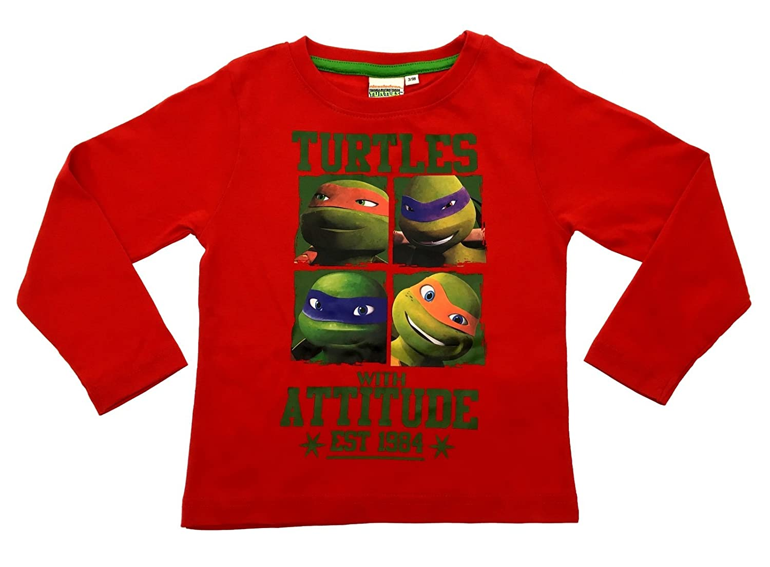 Official Nickelodeon Boys Long Sleeve Teenage Mutant Ninja Turtles ...