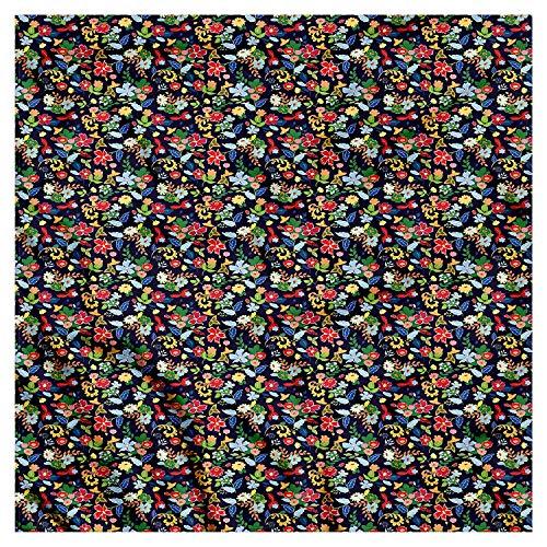 MSGDF Floral Bandana, Watercolor Daisy Petals, Unisex Bandana Head and Neck Tie Neckerchief Headdress Silk-Like 100% Polyester