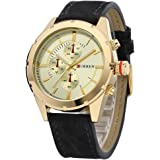 Curren Casual Watch For Men Analog Leather - 8154