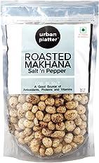 Urban Platter Roasted Makhana, Salt and Pepper, 100g