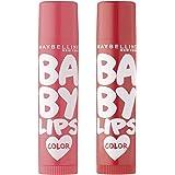 Maybelline New York Baby Lips Lip Balm, Cherry Kiss, 4g and Maybelline New York Baby Lips Lip Balm, Berry Crush, 4g