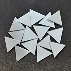 Embroiderymaterial Shisha Mirrors for Embroidery and Craft Purpose,Triangle Shape, 18MM, 100Pcs