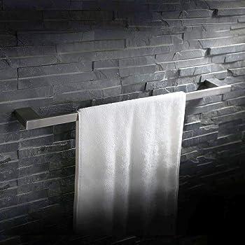 60 cm breit Soak Moderner Handtuchhalter f/ür Badezimmer Badetuchhalter f/ür gro/ße Handt/ücher einfache Montage eckig