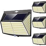 Lampe Solaire Extérieur, 228 LED [4 Pack] Eclairage Exterieur avec Détecteur de mouvement, LED Solaire Exterieur pour Jardin,