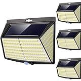 Luce Solare LED Esterno, [ 4 Pezzi 228 LED] Faretti Solari a Led da Esterno Lampada da Esterno con Sensore di Movimento…