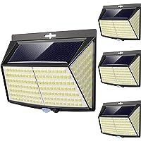 Lampe Solaire Extérieur, 228 LED [4 Pack] Eclairage Exterieur avec Détecteur de mouvement, LED Solaire Exterieur pour…