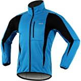 ARSUXEO de ciclismo Chaqueta de bicicleta transpirable térmica de invierno para hombre