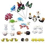 Krisah® 61 pcs Miniature Garden Ornaments Kit for DIY Fairy Garden Dollhouse Decor Landscaping Decor