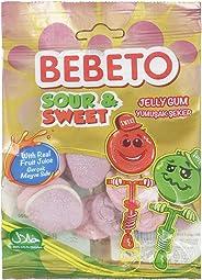 Bebeto Sour & Sweet Jelly Gum, 80 gm