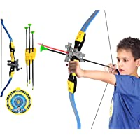 Wembley Toys Archery Bow and Arrow Set For Kids with Strong String Thread, 3 Arrows, Target Board for Boys Kids For…
