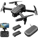 Mini-drone met 1080P FPV HD-camera voor volwassenen, RC opvouwbare quadcopter met gebarenbediening, hoogte vasthouden, headle