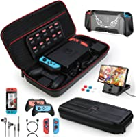 HEYSTOP Kit Accessori 16 in 1 Compatibile con Nintendo Switch, Include Custodia Switch, Cover Protettive e Pellicola…