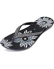 Zenwear Walking Slipper Flip Flop for Women,Black
