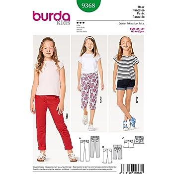 b406cabd2d83 Burda 9368 Schnittmuster Hose, Jeans und Shorts (Kids, Gr. 116-158) Level 3  Mittel