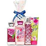 "Bath & Body Works Signature Collection"" Sweet Pea"" Fragrance Mist ~ Body Lotion ~ Shower Gel ~ Triple Moisture Body Cream & S"