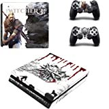 The Witcher Skin Sticker for Sony Playstation 4 (Slim) and Remote Controllers