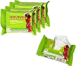 MEDIAWAVE Store Pack 50 salviette Bilboa thè verde Lenitive e Rinfrescanti per l'abbronzatura