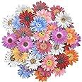 50 pièces Boutons Chrysanthème en Bois Fleurs en Bois Boutons Mixte Mode Aléatoire pour Couture Scrapbooking Décoratif DIY Ar