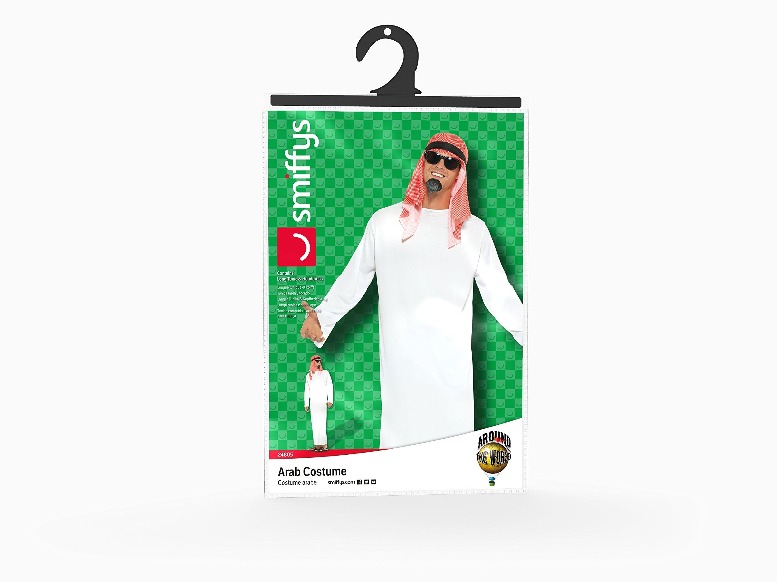 Smiffys Costume The Sheik, con lunga tunica e copricapo - BIANCO - MISURA L 5 spesavip