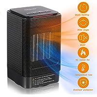Heizlüfter Energiesparend, NASUM Keramik Heizgerät, Mini Heizung 950W/600W, 3 Modi, sicher mit LED Anzeige, Überhitzungs…