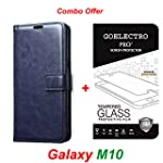 Goelectro Samsung Galaxy M10 / Galaxy M10 Leather Dairy Flip Case Stand with Magnetic Closure & Card Holder Cover...