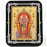 Eknoor Gold Plated Lord Swami Kartikeya Ji (Murugan Subramanya) God Idol for Home/Puja Ghar/Office (R1CB)
