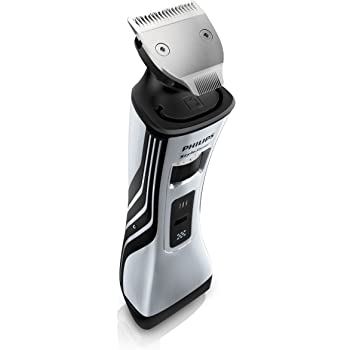 Philips StyleShaver, elektrischer Bart-Styler und -Rasierer QS6161/32, metallic