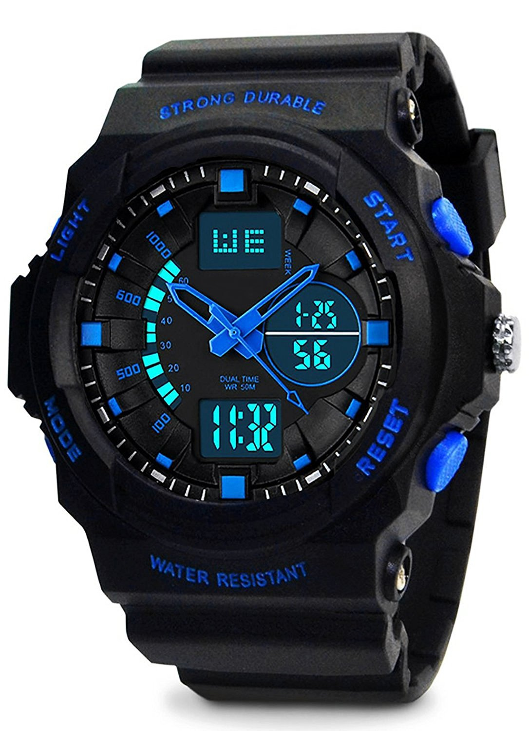 lcd digital steel sale on outlet chronograph shark online from analog product sales watches quartz analogue watch retail stainless silver mens sport